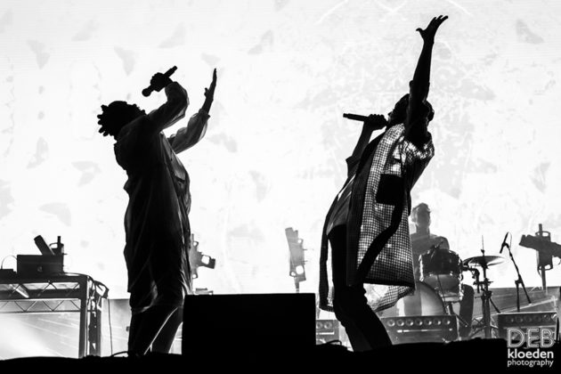 Picture of PNAU in concert at the Splendour in the Grass festival by Australia music photographer Deb Kloeden