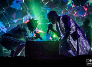 Picture of PNAU in concert at the Splendour in the Grass festivalby Australia music photographer Deb Kloeden