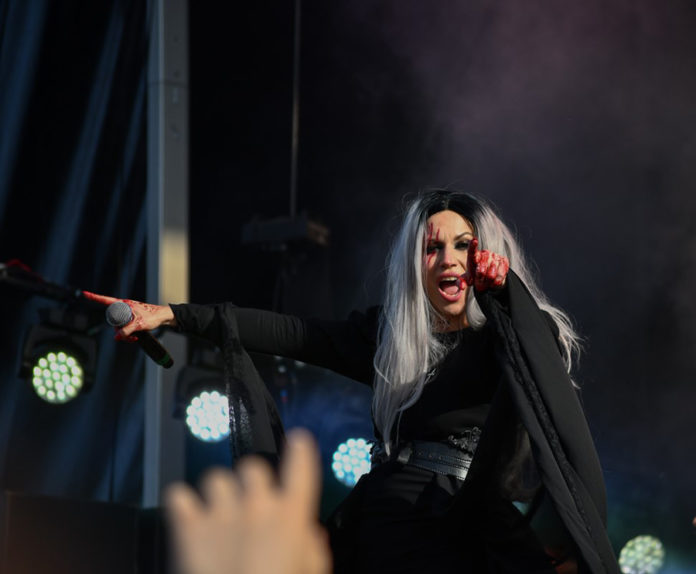 Picture of Lacuna Coil in concert at the Sweden Rock Festival by Sweden music photographer Lennart Håård