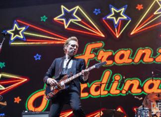 Picture of Franz Ferdinand in concert at the Splendour in the Grass festivalby Australia music photographer Deb Kloeden