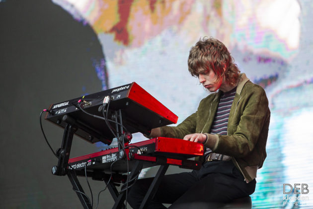 Picture of Methyl Ethel in concert at the Splendour in the Grass festival Australia by Australia music photographer Deb Kloeden
