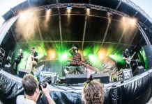 Picture of Fleddy Melculy in concert at Waterpop by Holland music photographer Johan Sonneveld