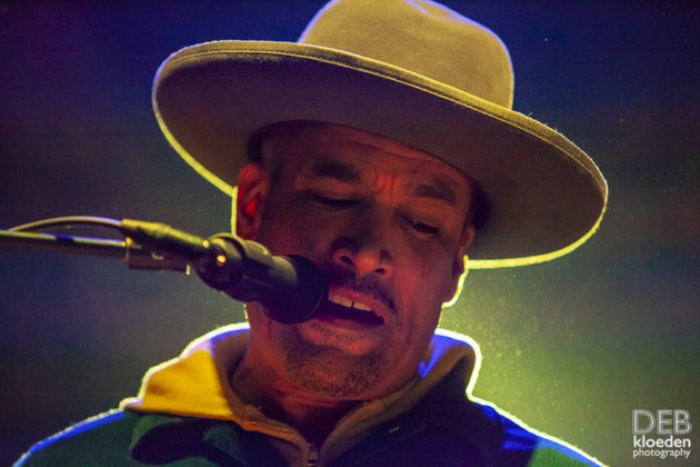 Picture of Ben Harper in concert by Australia music photographer Deb Kloeden