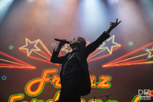 Picture of Franz Ferdinand in concert by Australia music photographer Deb Kloeden