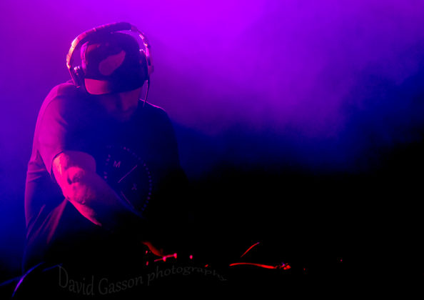 Picture of DJ mixing at the Seasplash festival /Fort Punta Christo by Croatian Music and Pit photographer David Gasson
