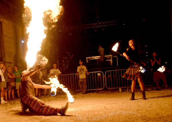 Picture of a fire juggler at the Seasplash festival by Croatian Music and Pit photographer David Gasson