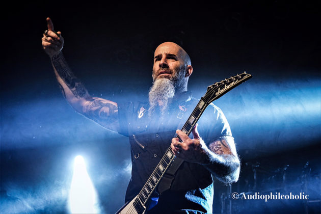 Picture of Anthrax in concert in Indiana by American Music Photographer Andrew Perkins