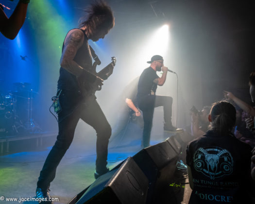 picture of Allegaeon in concert at Royal Metal Fest 2018 by Denmark music photographer Jason Champney