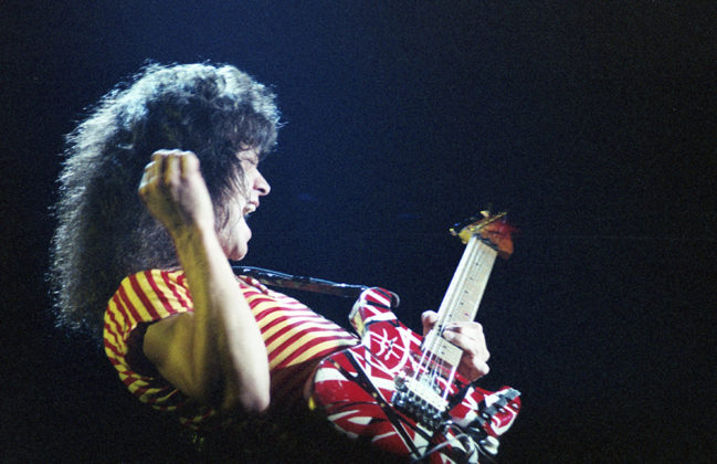 Picture of Van Halen in concert by Bill O'Leary