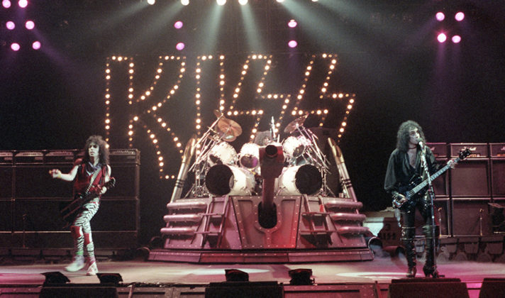 Picture of Kiss in concert wit concert photography by Bill O'Leary