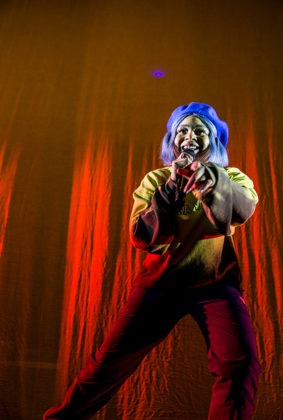 Picture of Tayla Parx in concert taken by the music photographer Danni Fro