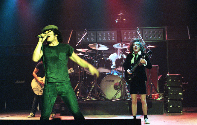 Picture of AC/DC in concert by Bill O'Leary