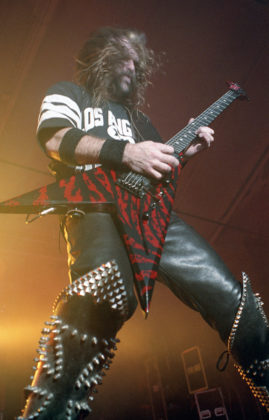 Picture of Slayer in concert in analog from 1990 taken by Bill O'Leary
