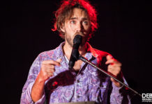Picture of Matt Corby in concert by Australia music photographer Deb Kloeden