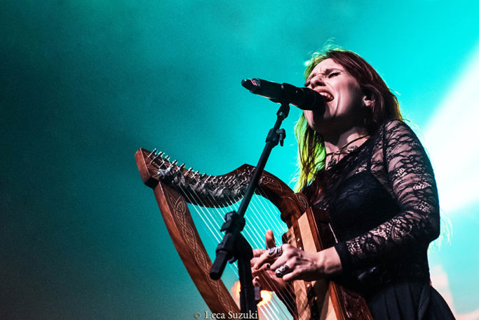 Picture of Eluveitie in concert with photography by Leca Suzuki