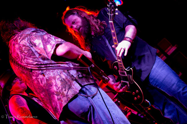Picture of the southern rock band Hogjaw in concert in Belgium taken by the music photographer Trees Rommelaere