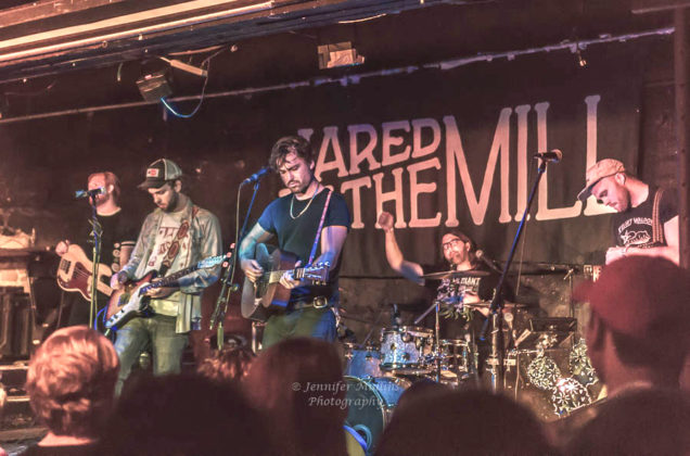 Picture of the group Jared and The Mill in concert taken by music photographer Jennifer Mullins