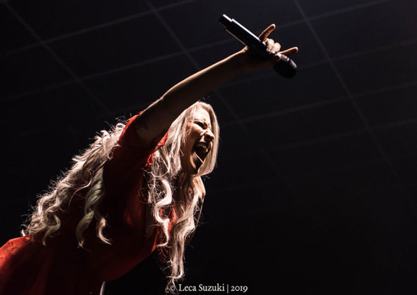 Picture of the Symphonic Metal band Delain in concert taken by music photographer Leca Suzuki