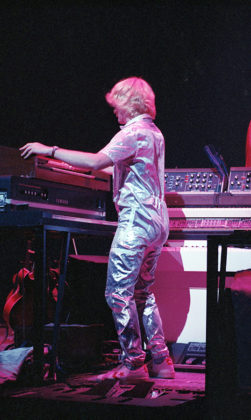 Picture of the rock band Yes in concert taken by Bill O'Leary
