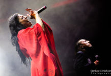 Picture of the gothic metal group Lacuna Coil in concert taken by Gianluca Conselvan