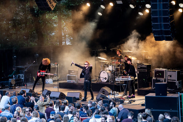 Picture of the rock band Rhea in concert taken by Belgium music photographer Trees Rommelaere