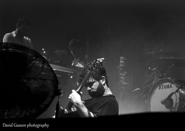 Picture of the rock band Foals in concert taken by music photographer David Gasson