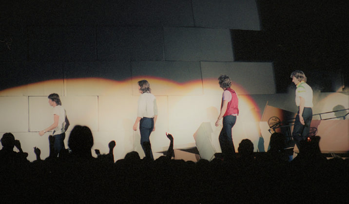Picture of Pink Floyd in concert in analog taken in 1980 by Bill O'Leary