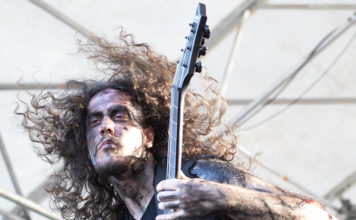 Picture of the Death Metal band Necrosy in concert at the GoatHell Metal Fest by David Gasson