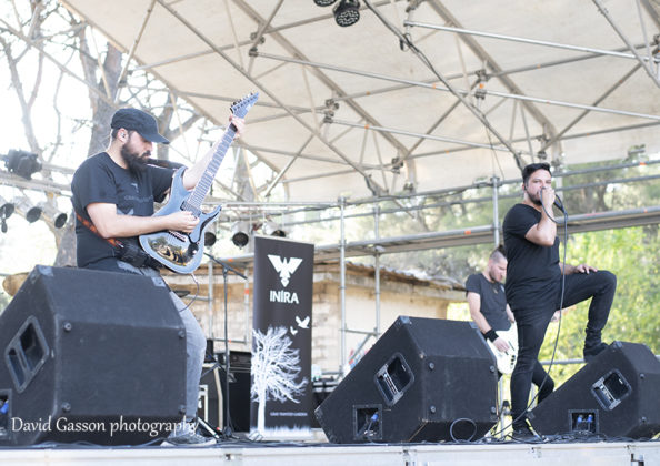 Picture of the Metalcore band Inira in concert at the GoatHell Metal Fest by David Gasson