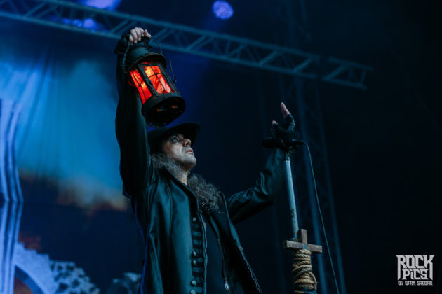 Picture of the heavy metal band Moonspell in concert at the Hills Of Rock festival taken by Stan Srebar