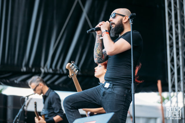 Picture of the progressive heavy metal band Adimiron in concert at the Hills Of Rock festival in Bulgaria taken by Stan Srebar