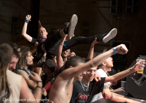 Picture of the crowd at the pula punk festival in Croatia by David Gasson