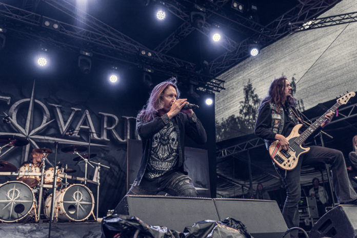 Picture of the heavy metal band Stratovarius in concert taken by Oskari Mäkisarka