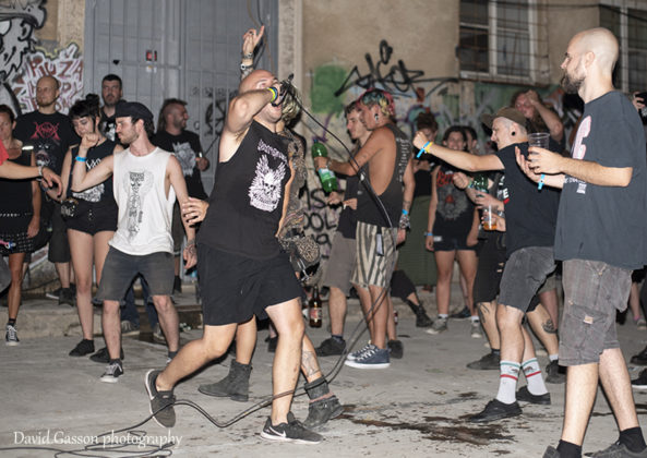 Picture of the punk band The Arson Project performing at the Pula punk festival taken by David Gasson