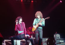 Picture of the rock band REO Speedwagon in concert taken by Bill O'Leary