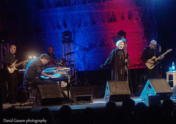 Picture of the Croatian rock singer Josipa Lisac in concert taken by David Gasson