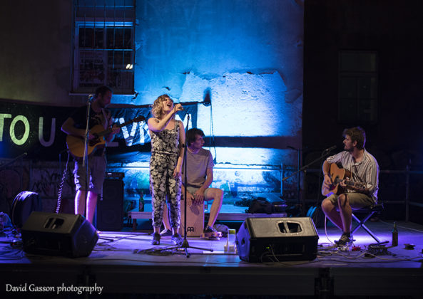 Picture of the alternative folk and pop band NLV in concert taken by David Gasson