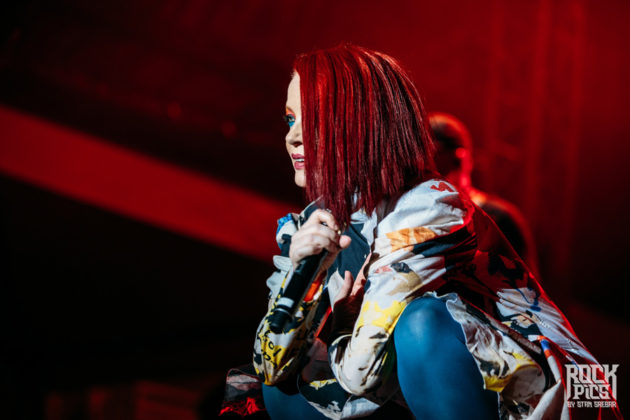 Picture of the rock band Garbage in concert taken by Stan Srebar
