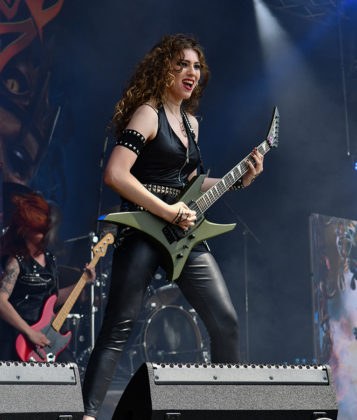 Picture of the Swizz heavy metal band Burning Witches in concert taken by Lennart Håård