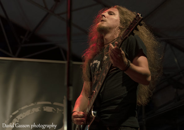 Picture of the thrash metal band Archaic in concert taken by David Gasson