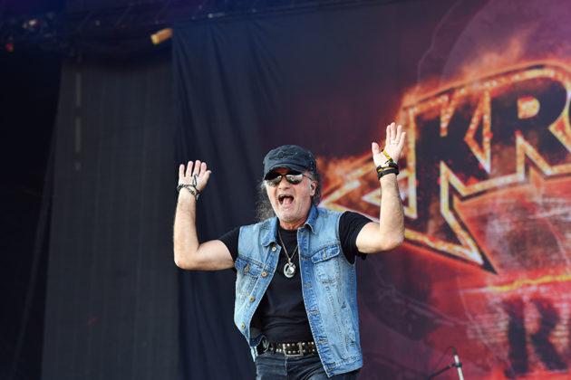 Picture of the rock band Krokus in concert taken by Lennart Håård