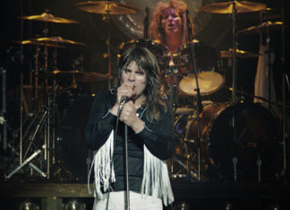 Picture of the heavy metal singer Ozzy Osbourne in concert during the Blizzard of Ozz Tour by Bill O'Leary