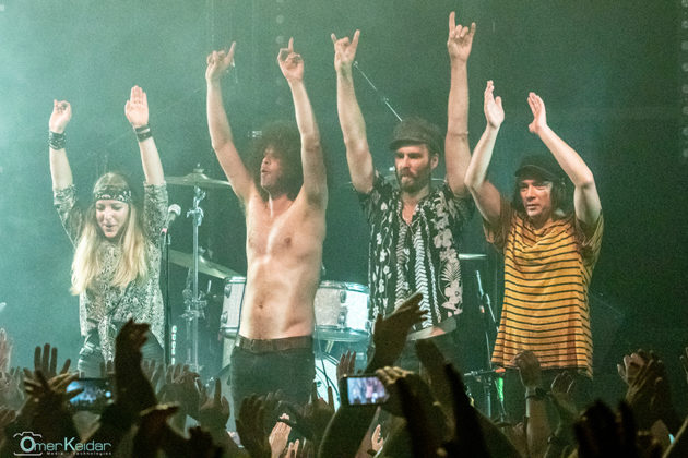 Picture of the rock band Wolfmother in concert taken by Omer Keidar