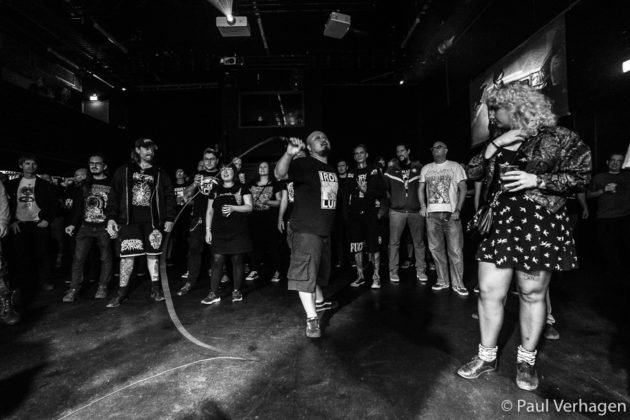 Picture of the hardcore punk band Completed Exposition in concert taken by Paul Verhagen