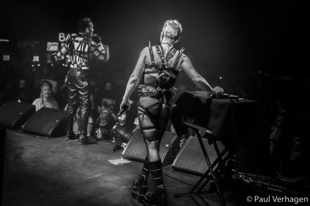 picture of the punk band Hatari from Iceland in concert taken by Paul Verhagen