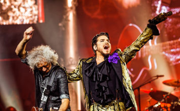 Picture of Queen + Adam Lambert in concert taken by Ruth Preston