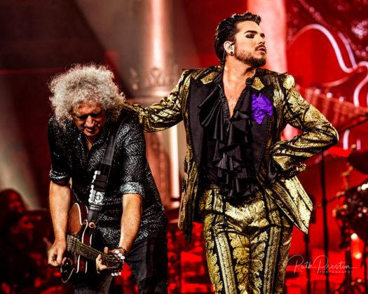 Picture of Queen + Adam Lambert in concert taken by Ruth Preston
