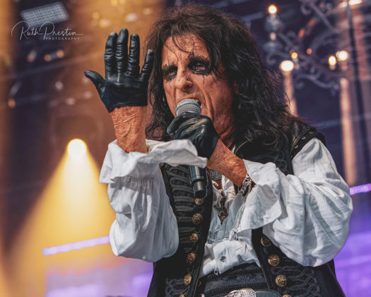 Picture of Alice Cooper in concert taken by Ruth Preston