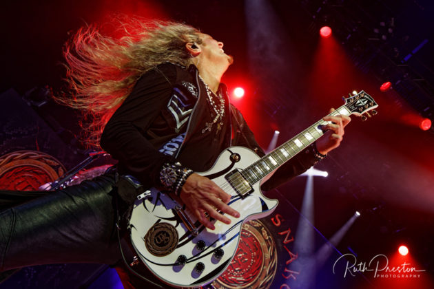 Picture of the rock band Whitesnake in concert taken by Ruth Preston