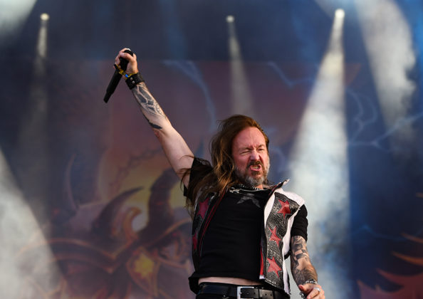 Picture of the heavy metal band HammerFall in concert by Lennart Håård